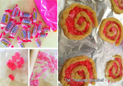 Add a sweet candy center to sugar cookies with Jolly Rancher candies.