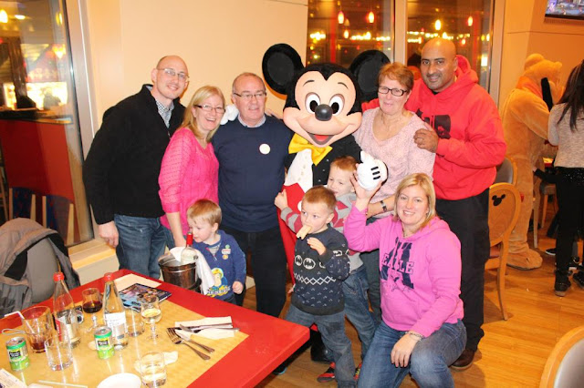 family photo with mickey mouse