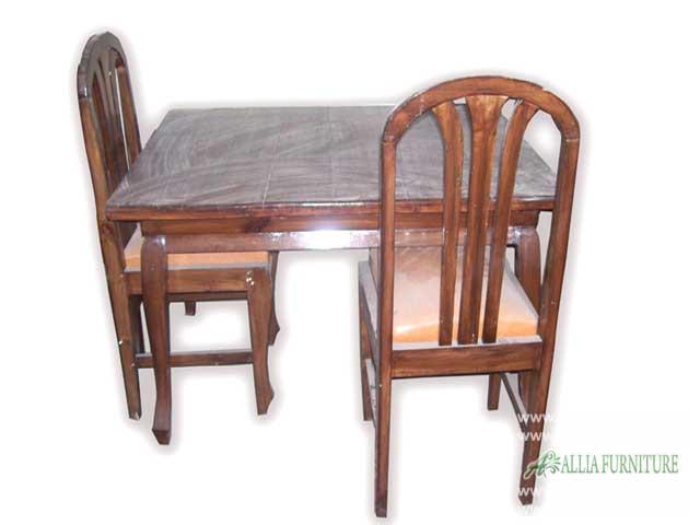 kursi meja makan set kayu jati kotak