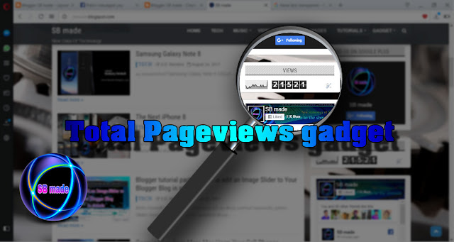 How to add Total Pageviews gadget