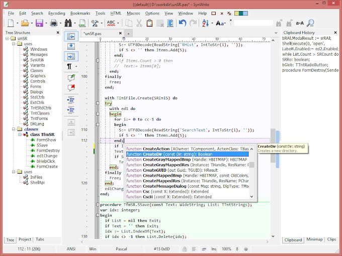 SynWrite 6.28 - Ο πληθωρικός επεξεργαστής κειμένου για προγραμματιστές