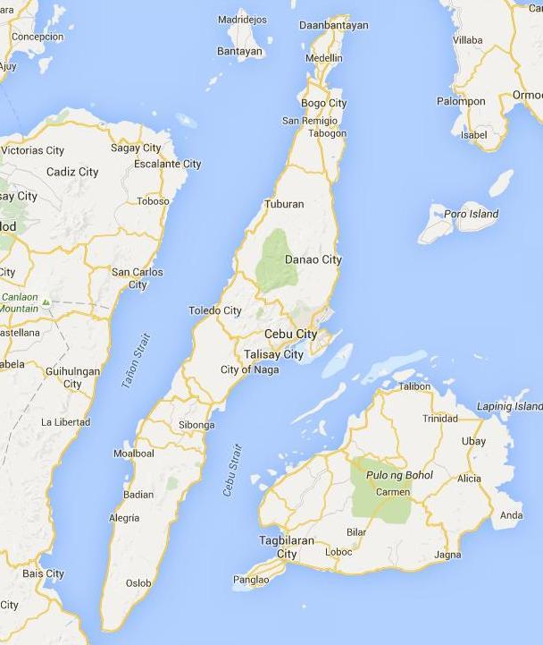 bloGtj Cebu Map