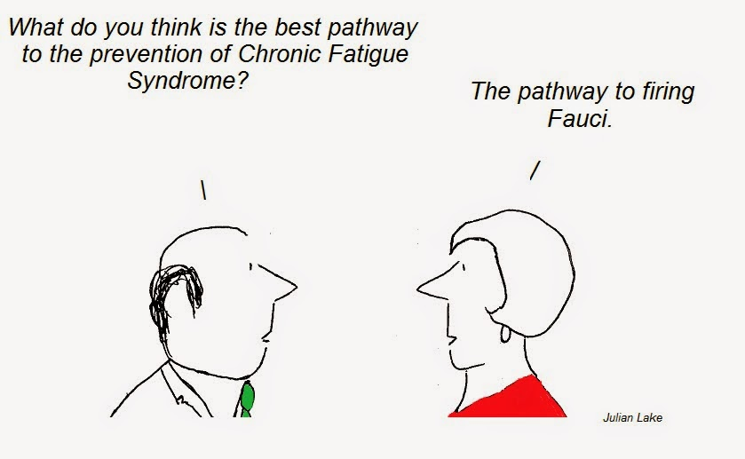 cartoon, cartoons, fauci, cfs, chronic fatigue synrome, pathway to prevention, fraud