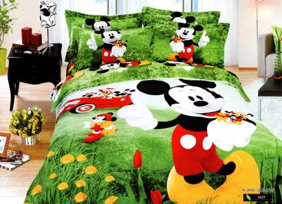 Sprei Satin Jepang Super Motif Mickey Mouse