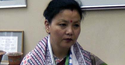 Sharda Subba, in-charge of Trinamul's Darjeeling subdivision committee