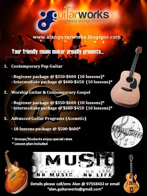 Guitar lessons Singapore brochure