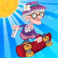 Angry Gran Skater Run Mod Apk