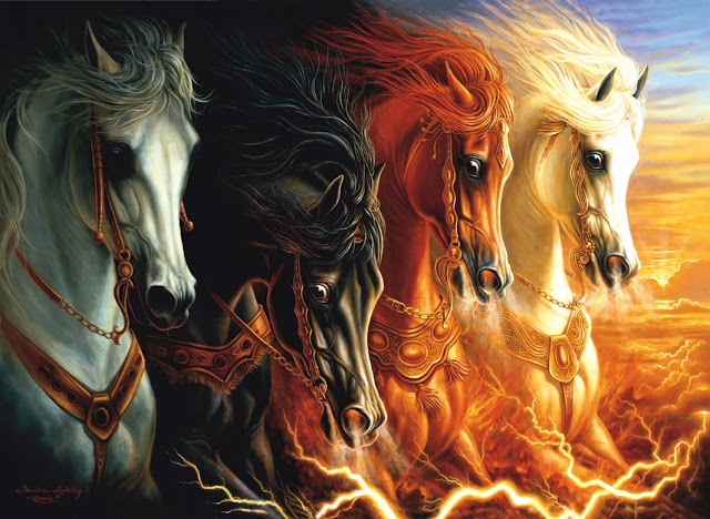 """4 Horsemen of the Apocalypse"" by Sharlene Lindskog-Onsario"