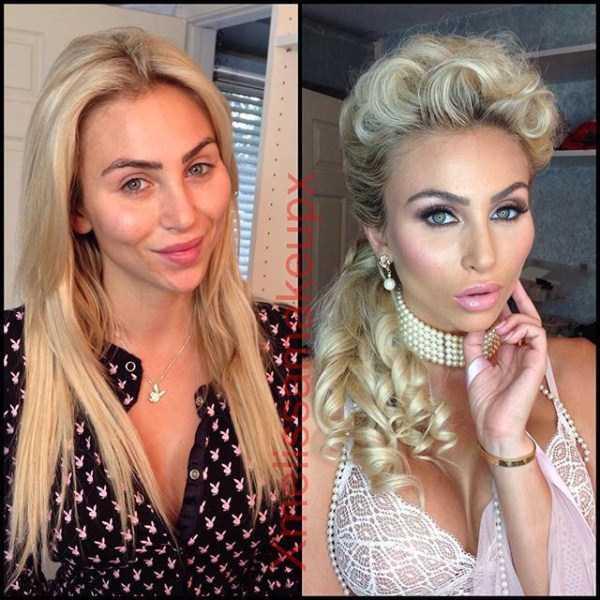 Model Playboy Tercantik Sebelum Dan Setelah Makeup-4