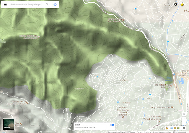 Google Map en Relief