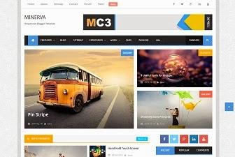 minerva magazine blogger template