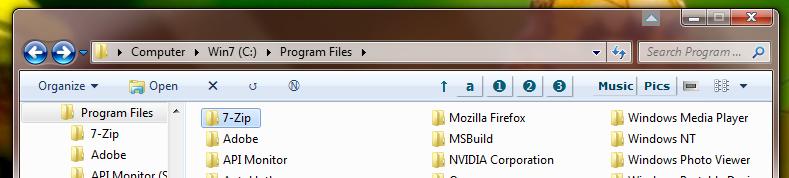 Informatics stuff: Toolbars for 'Windows Explorer', for 'Open/Save