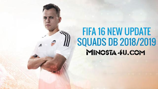 FIFA 16 NEW UPDATE SQUADS DB 16/08/2018