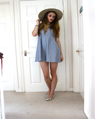 dresses blue shorts for teen