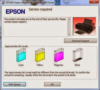 Cara Reset Printer Epson L100