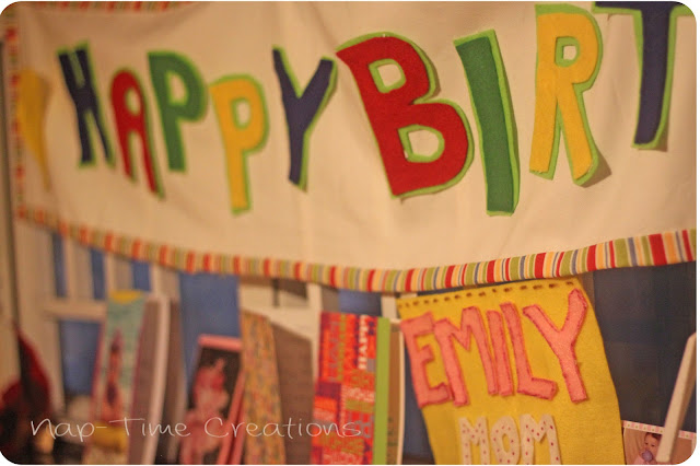 no sew birthday banner