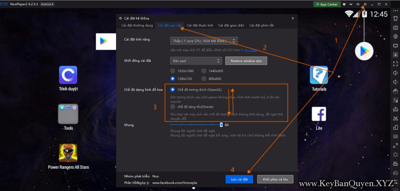 Hướng dẫn sửa lỗi thường gặp khi dùng Nox App Player.