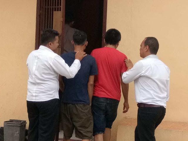 Dua tersangka narkoba di Batubara.