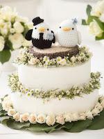 10 Free Crochet Wedding Patterns--Free Crochet Amigurumi Love Bird Topper Pattern