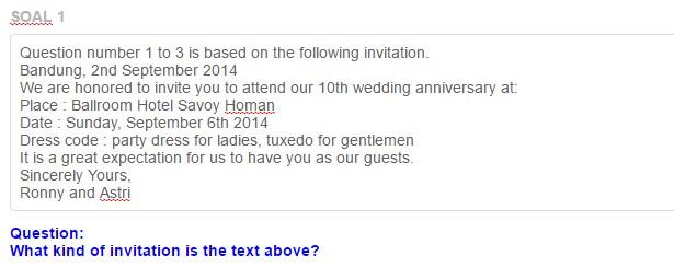 Contoh soal invitation stopboris Choice Image