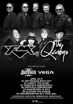 FM + The Quireboys - April 2019 tour dates - poster
