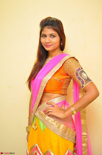 Lucky Sree in dasling Pink Saree and Orange Choli DSC 0349 1600x1063.JPG