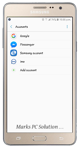 Remove Google Accounts from Android Device