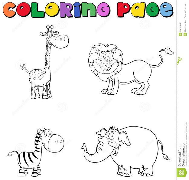 Cute Safari Animal Coloring Pages  Source  Farmanimalscoloringpage   On Baby Jungle