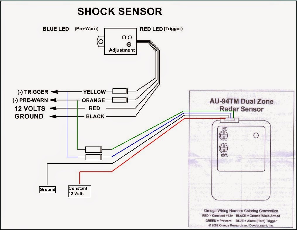 use the image below instead this way both sensors work with the alarm sensor input [ 1014 x 785 Pixel ]