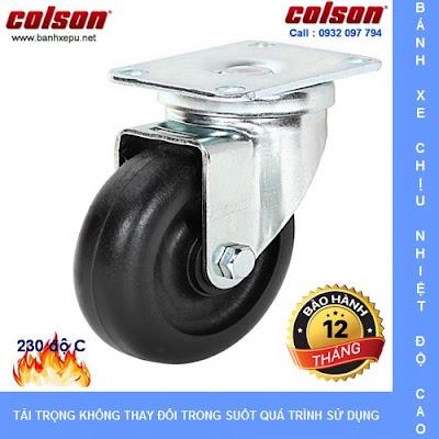 Bánh xe đẩy trolley chịu nhiệt lò nướng bánh mì Colson | A2-3346-52HT banhxedayhang.net