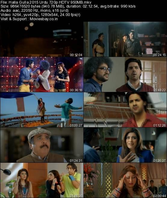 Halla Gulla 2015 Urdu 720p HDTV 950MB