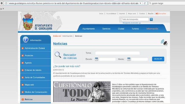 Anonymous hackea la web del Ayuntamiento de Guadalajara