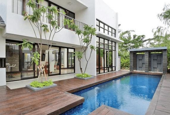 25 Contoh Rumah Yang Ada Kolam Renang Minimalis Dan Indah