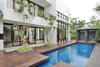 Contoh rumah yang ada kolam renang minimalis dan indah 25+ Contoh Rumah Yang Ada Kolam Renang Minimalis dan Indah