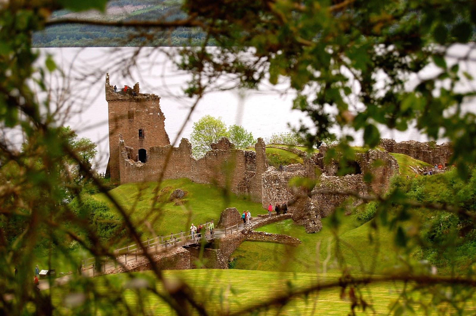 Urquhart Castle ruins on Loch Ness in Scotland