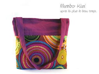 sac cabas orignal et coloré fait main