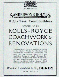 Sanderson & Holmes Ltd -Rolls Royce coachbuilder advert from 1927