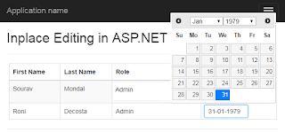 Part 2 - Advance Inplace editing in asp net MVC webgrid | DotNet