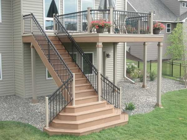 Deck Stairs Design picture