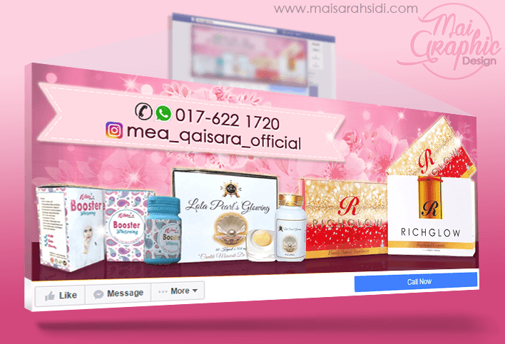 design cover photo Facebook murah