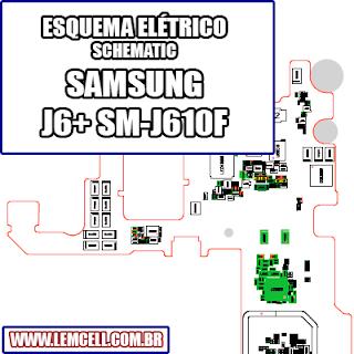 Esquema Elétrico Smartphone Samsung Galaxy J6+ SM-J610F Manual de Serviço   Service Manual schematic Diagram Cell Phone Smartphone Celular Samsung Galaxy J6+ SM- 610 F      Esquematico Smartphone Celular Samsung Galaxy J6+ SM J610 F