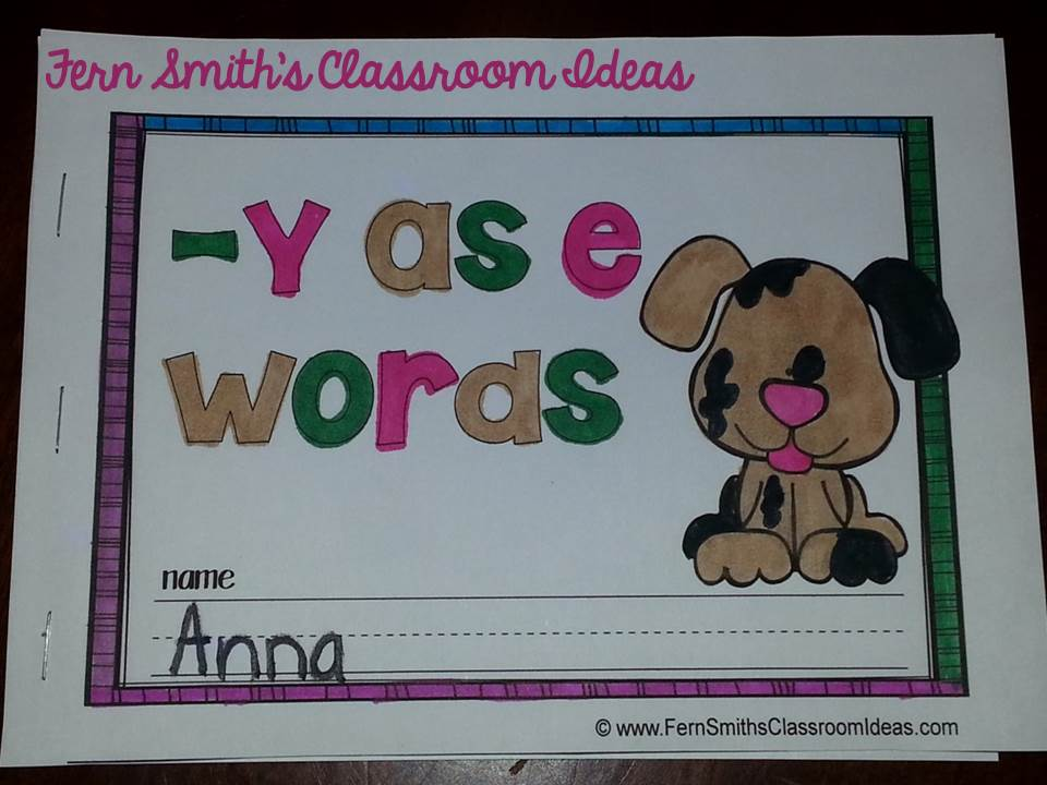 Fern Smith's Printable Phonics Mini-Books for the -y as e Family