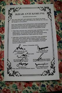 Pasangan Subroto dan Nur Yahman Berjanji Tidak Lakukan Korupsi 1