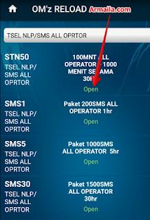 Pastikan status produk sedang lagi open atau stok paket nelpon 1100 menit itu tersedia