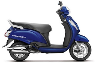 Suzuki Access 125 side view HD Image
