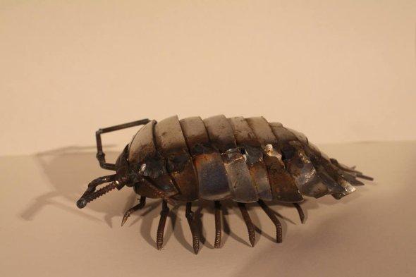 JK Brown esculturas de animais metais ferro velho reciclado