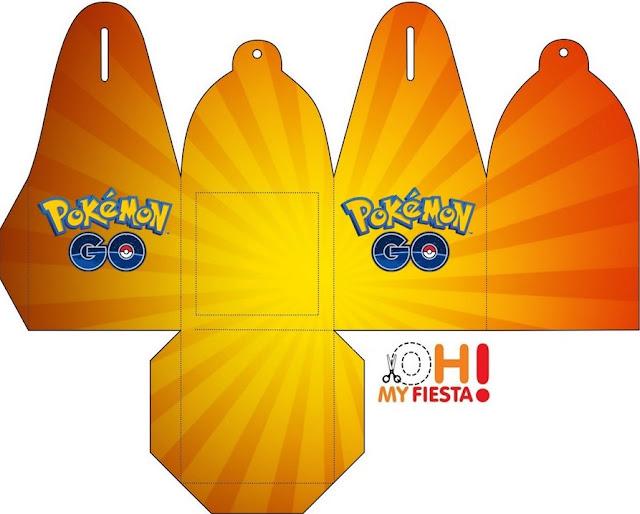 Caja para cupcakes o golosinas de Pokemon Go.