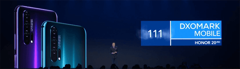 Honor 20 Pro goes for 111 points in DXOMark!