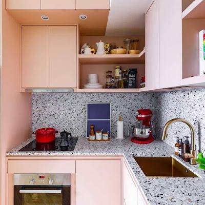 desain dapur batu alam