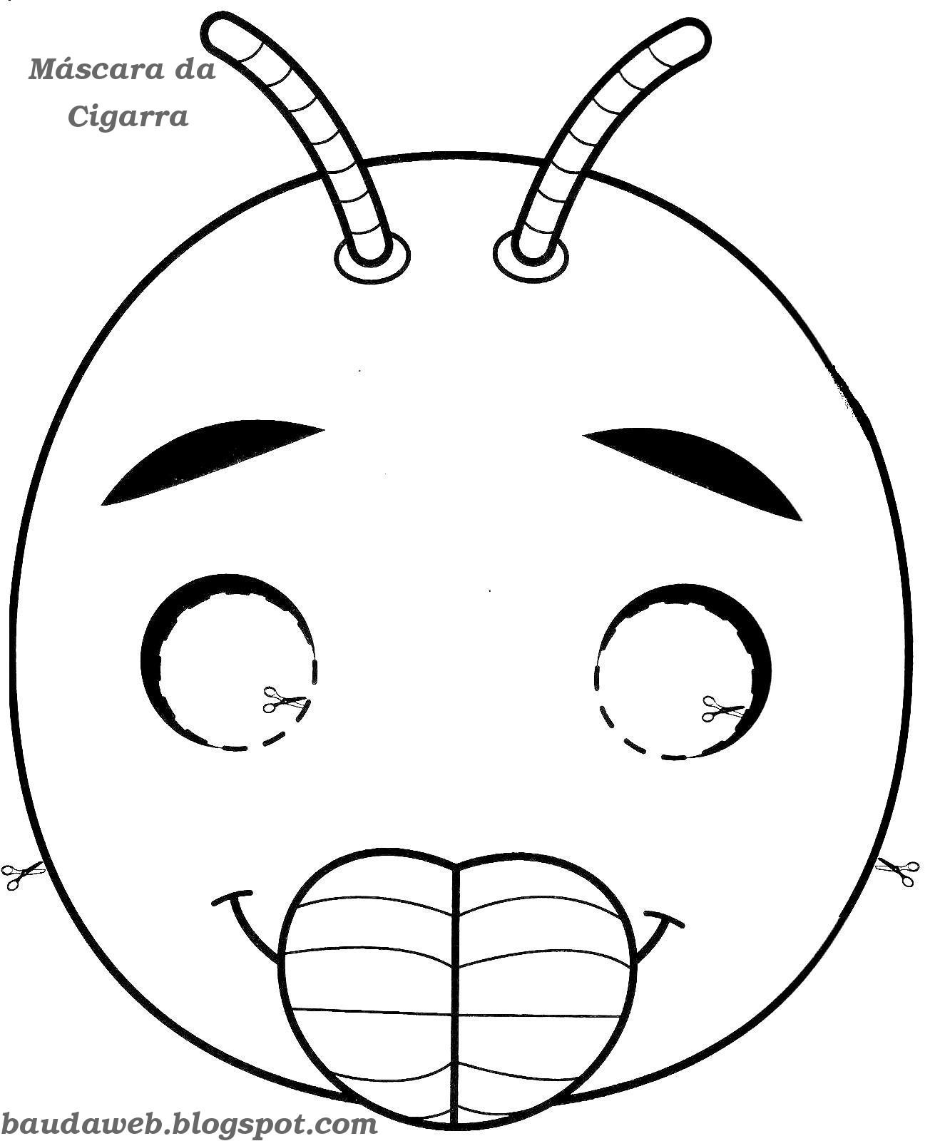 Bau Da Web Mascara Da Cigarra E Da Formiga Para Imprimir